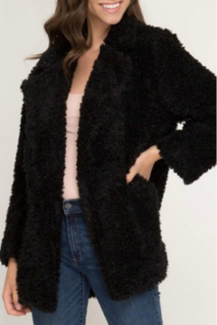 Shoptiques Product: FAUX FUR JACKET W/ POCKETS