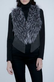 METRIC Faux Fur/Knit Crop Vest - Product Mini Image