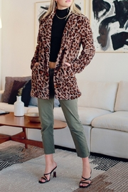 HYFVE Faux Fur Leopard Coat - Product Mini Image