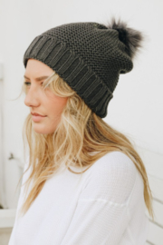 Leto faux fur lined pom beanie - Product Mini Image
