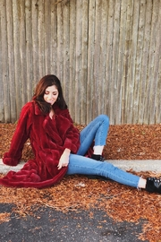 hot and delicious Faux-Fur Long Coat - Product Mini Image