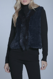 METRIC Faux Fur Navy Vest - Product Mini Image