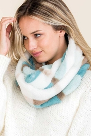 Lyn-Maree's  Faux Fur Plaid Scarf - Front cropped