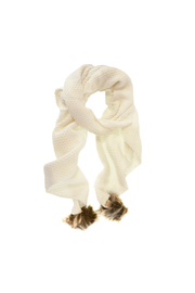 Joy Accessories Faux Fur Pom Pom Scarf - Product Mini Image
