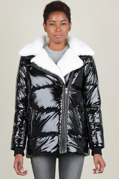 Current Air Faux Fur Puffer - Product List Image