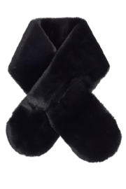 Echo Design Faux Fur Pull-Through Scarf - Front cropped