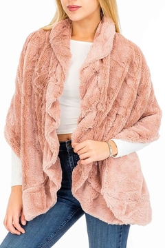 Shoptiques Product: Faux-Fur Ruffly-Scarf