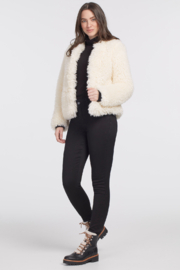 tribal  Faux Fur Short Topper - Front cropped