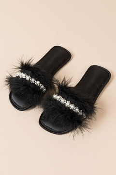 Pia Rossini Faux-Fur Slippers - Product List Image