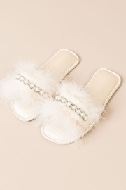 Pia Rossini Faux-Fur Slippers - Front cropped