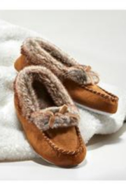 Charlie Paige Faux Fur Slippers - Front cropped
