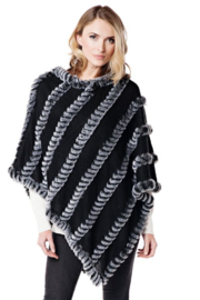 Fabulous Furs Faux Fur Striped Dress Topper - Product Mini Image