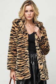 Bella Bella  Faux Fur Tiger Jacket - Front cropped