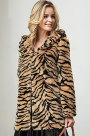 Bella Bella  Faux Fur Tiger Jacket - Side cropped