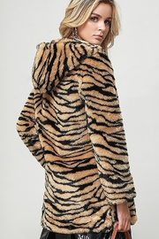 Bella Bella  Faux Fur Tiger Jacket - Front full body