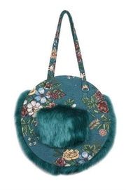 America & Beyond Faux Fur Tote - Product Mini Image