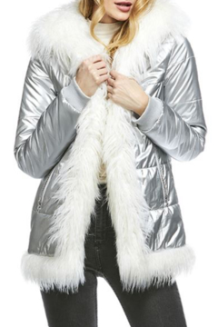 Fabulous Furs Faux Fur Trimmed Puffer Coat - Product List Image