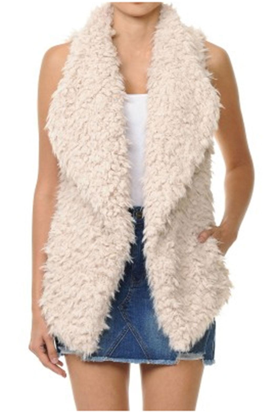 ambiance apparel Faux Fur Vest - Front Cropped Image