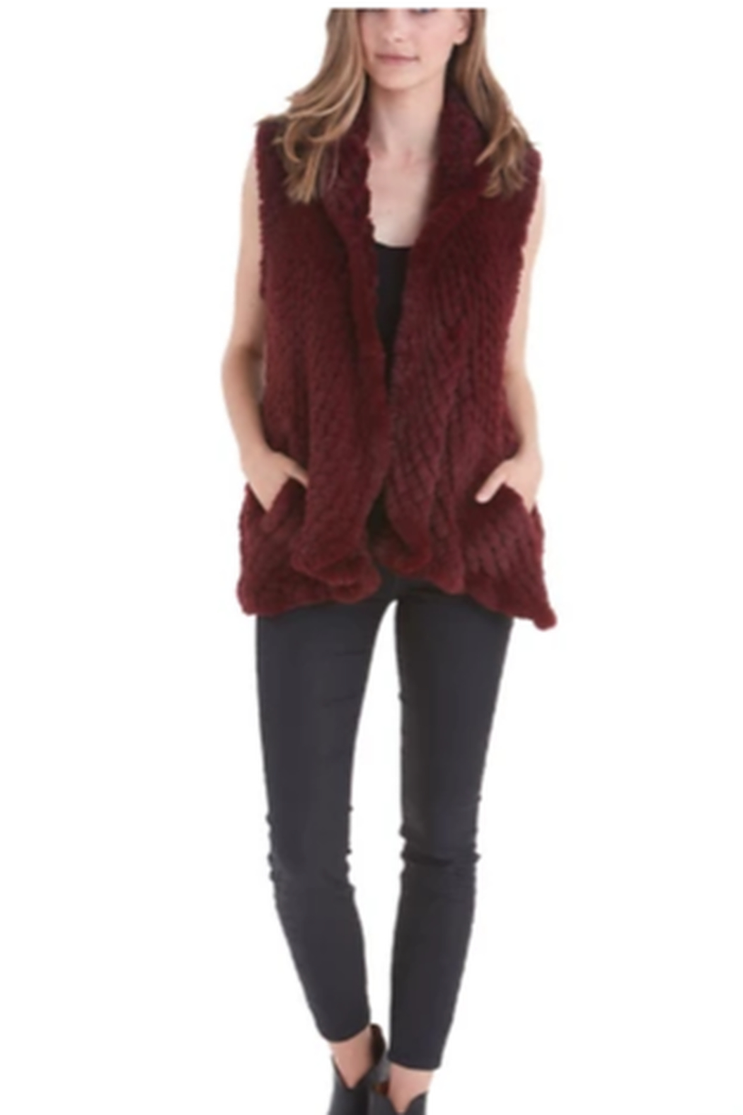 love token Faux Fur Vest - Main Image