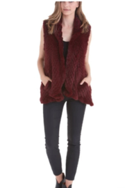 love token Faux Fur Vest - Front cropped
