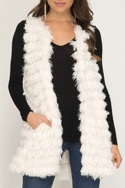 She + Sky Faux Fur Vest - Product Mini Image