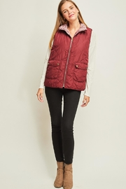 Entro Faux Fur Vest - Front full body