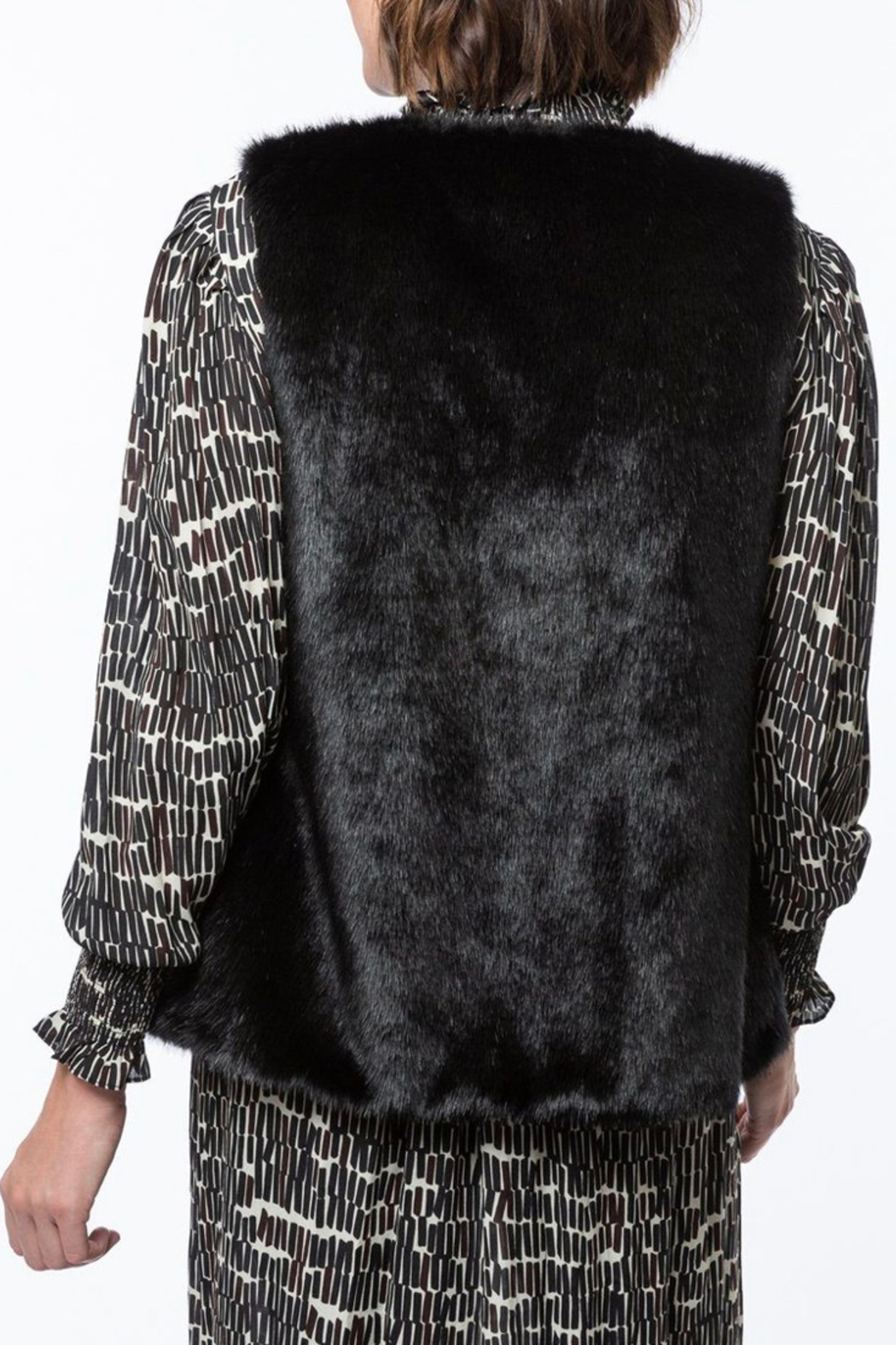 Tyler Boe Faux Fur Vest - Side Cropped Image