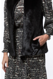 Tyler Boe Faux Fur Vest - Back cropped