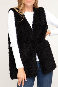 Shoptiques Product: Faux-Fur Vest, Black