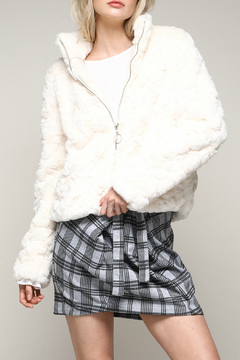 Mustard Seed Faux Fur Zip-up Jacket - Product List Image