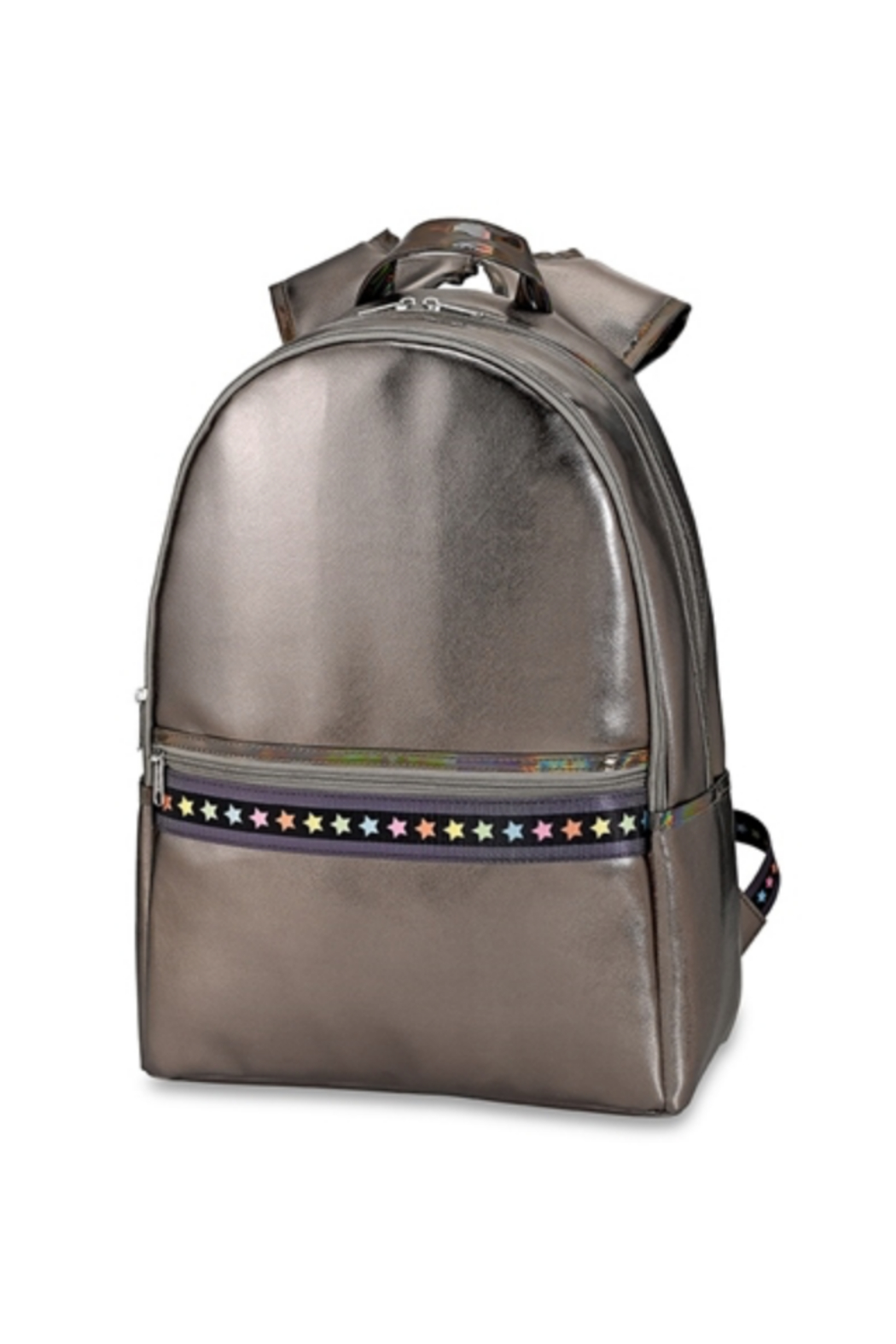 Top Trenz Faux leather backpack - Front Cropped Image