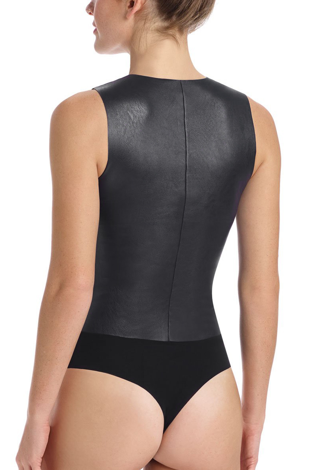 Commando Faux Leather Bodysuit - Front Full Image