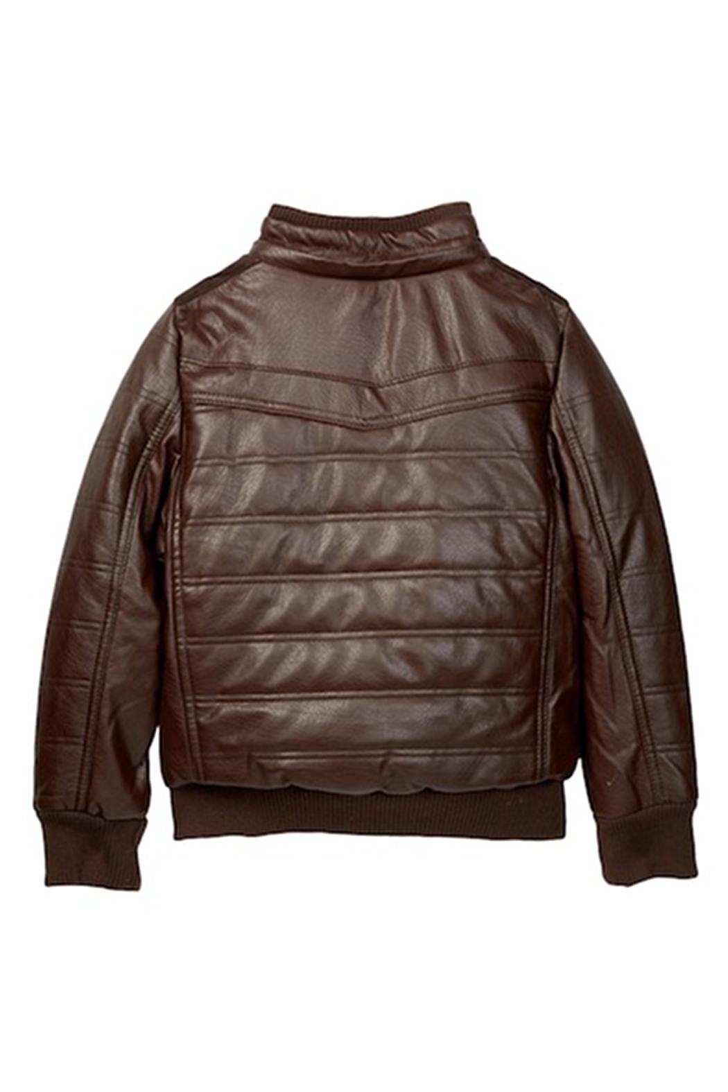 Yoki Faux Leather Bomber - Front Full Image