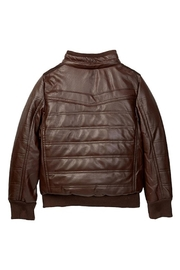 Yoki Faux Leather Bomber - Front full body