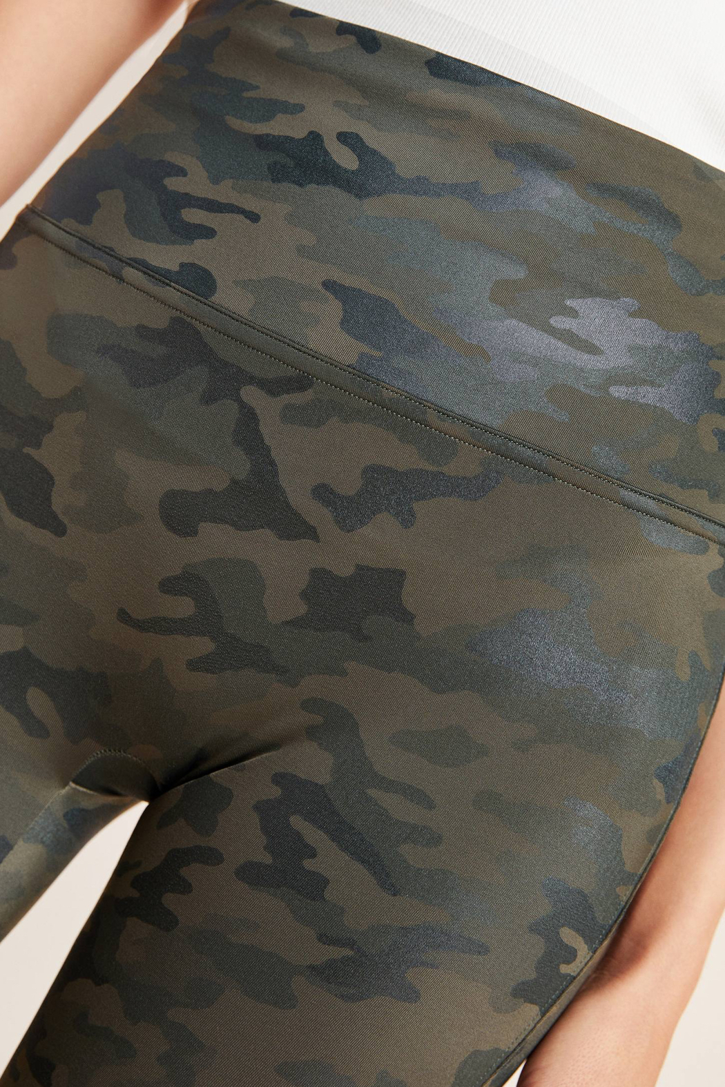 Spanx Faux Leather Camo Leggings - Side Cropped Image