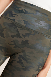 Spanx Faux Leather Camo Leggings - Side cropped