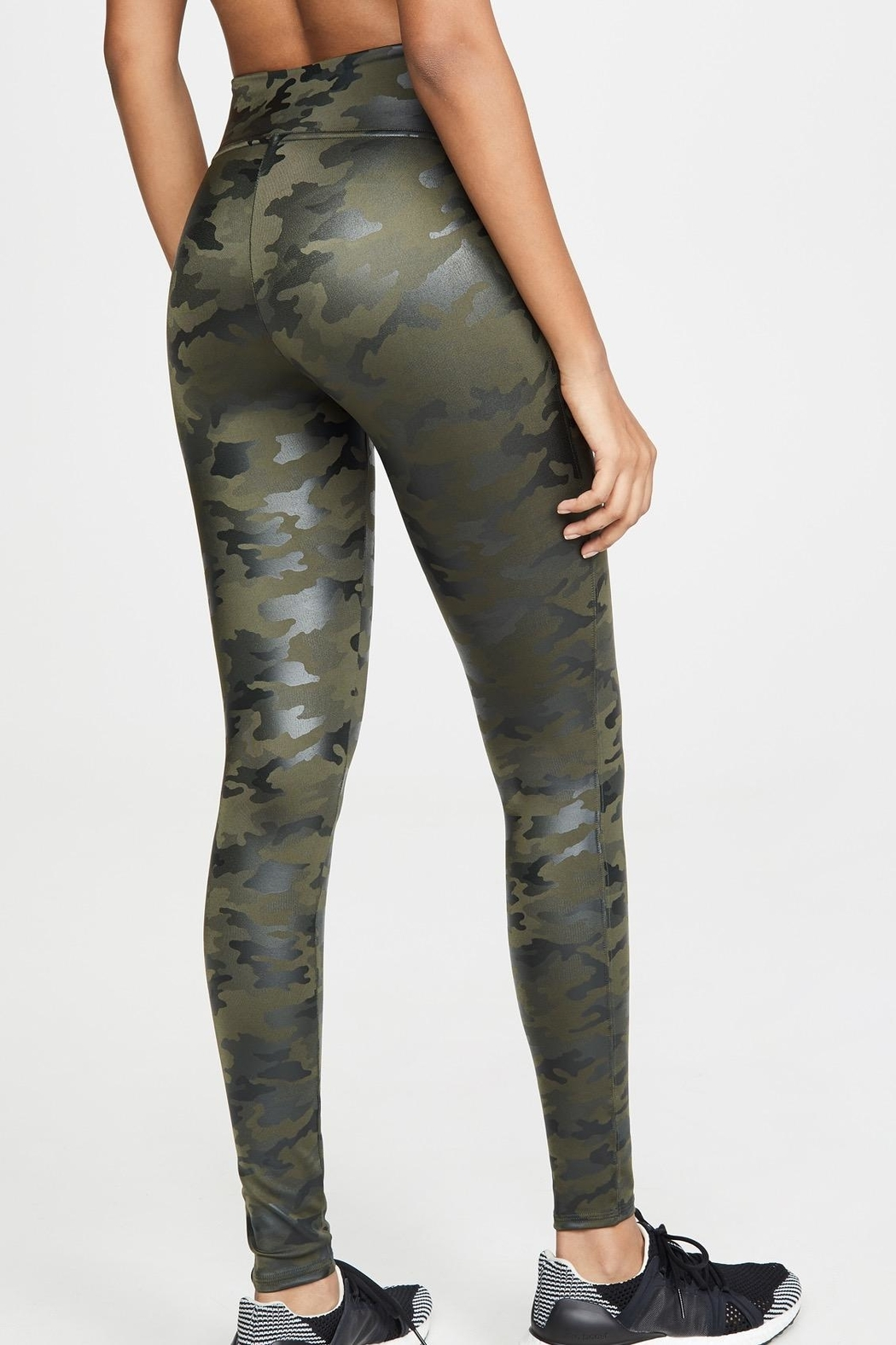 Spanx Faux-Leather Camo Leggings - Side Cropped Image