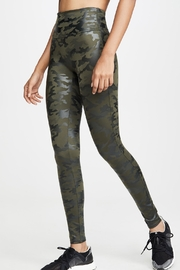 Spanx Faux-Leather Camo Leggings - Front full body