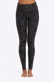 Spanx Faux-Leather Camo Leggings - Front cropped