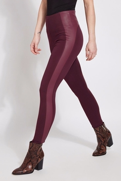 Lyssé Faux Leather Contrast Legging - Product List Image