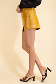 Glam Faux Leather Croco Skirt - Side cropped