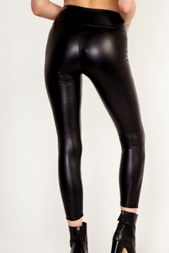 Polly & Esther Faux-Leather Cropped Leggings - Alternate List Image