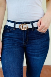 Art Box Faux Leather Double Ring Buckle belt - Product Mini Image
