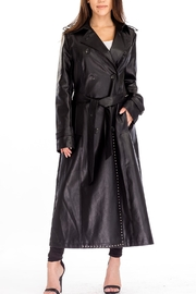 Baciano Faux Leather Duster - Product Mini Image