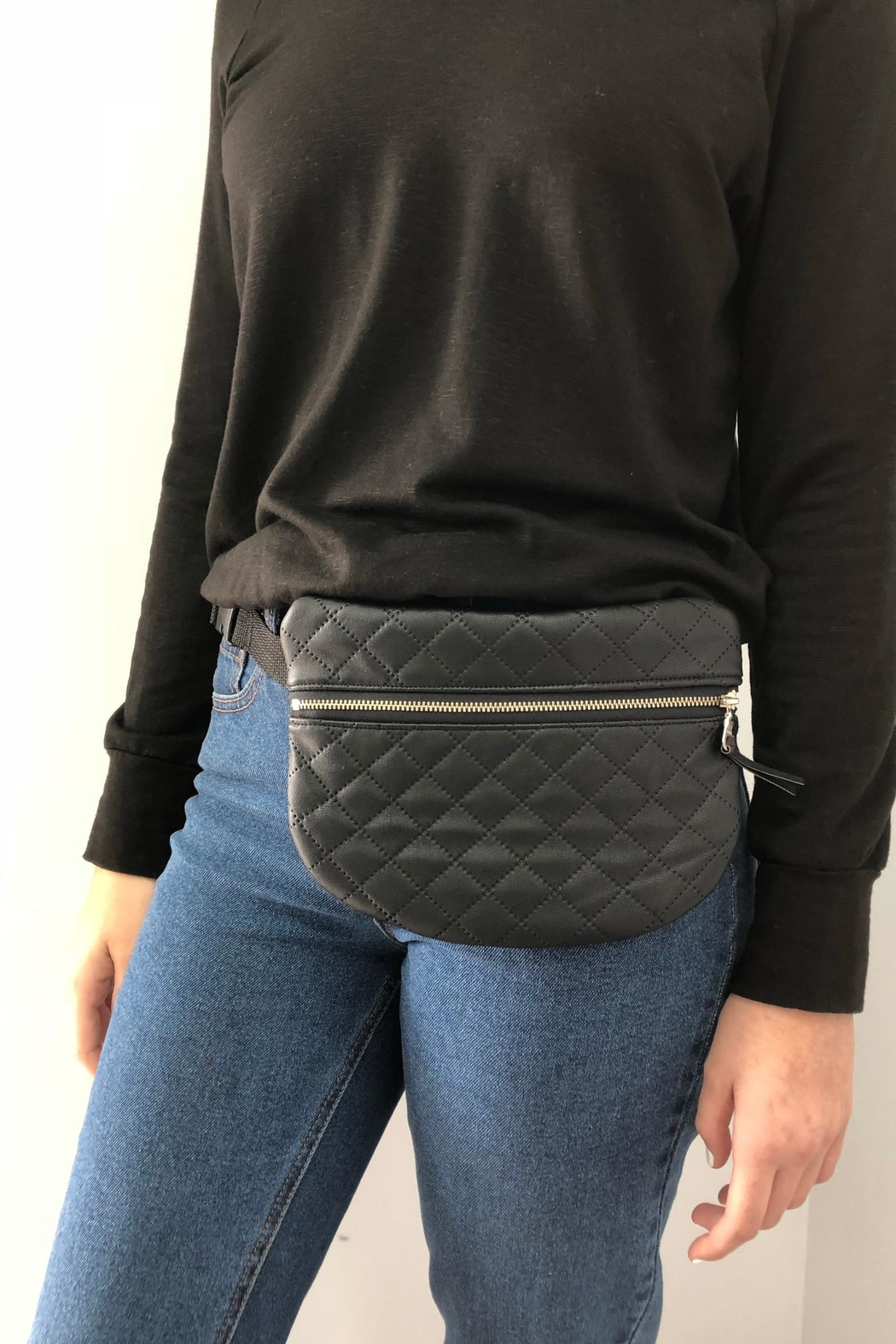 The Lovet Shop Faux Leather Fannypack - Main Image