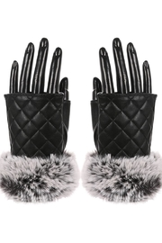 Lets Accessorize Faux-Leather Fingerless Gloves - Product Mini Image