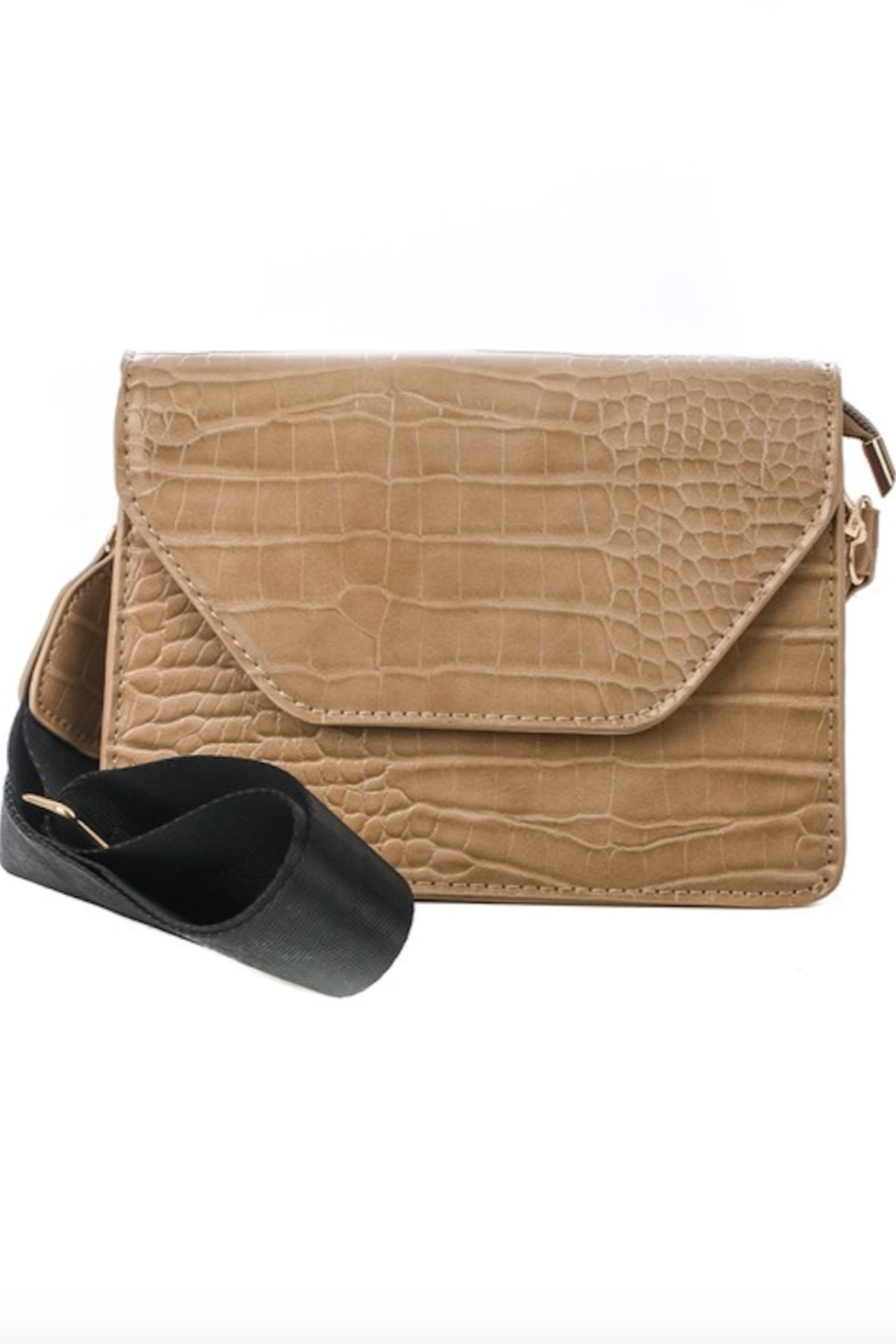 Anarchy Street Faux Leather Flap Side Bag - Front Full Image