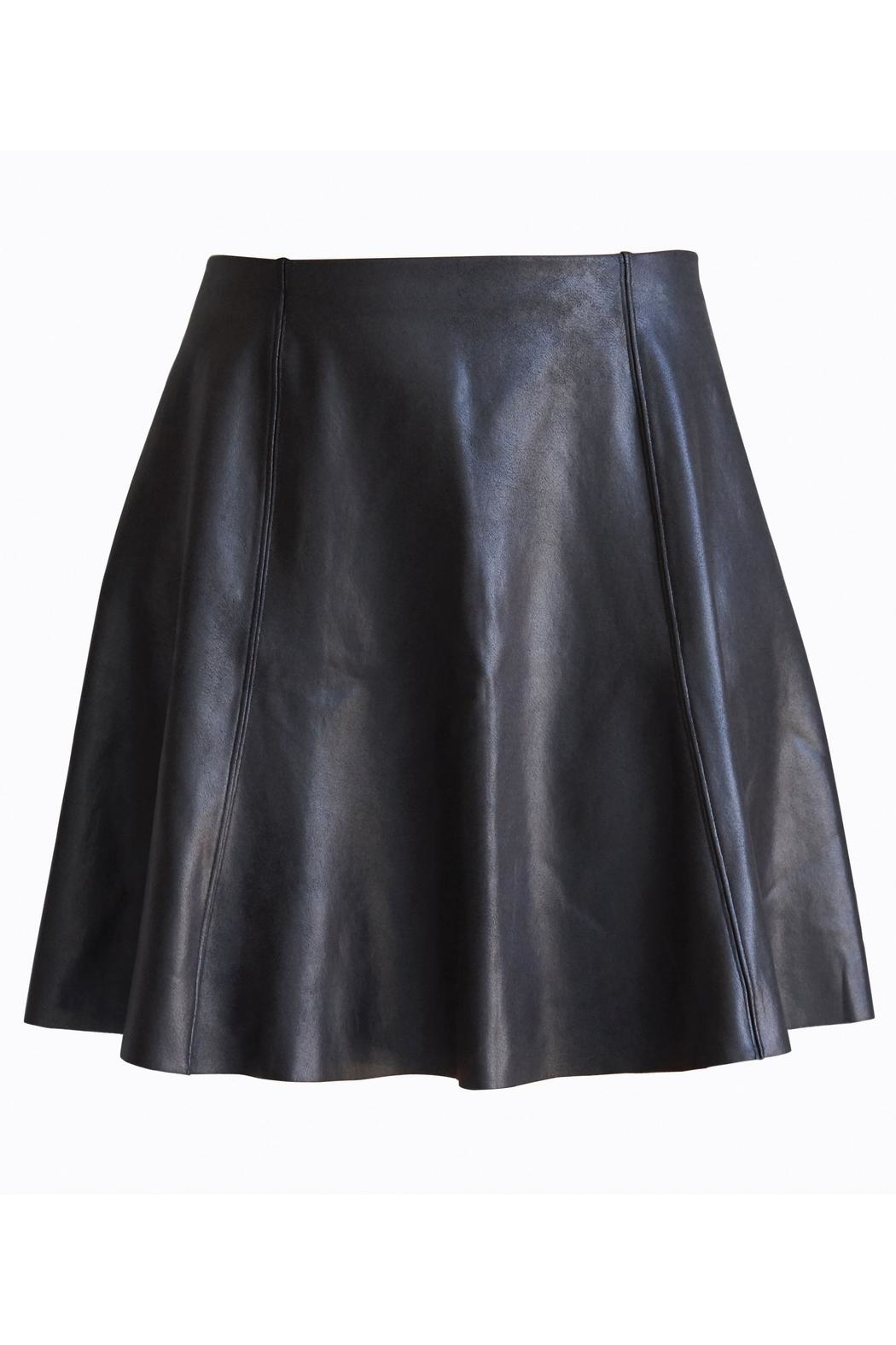Spanx Faux-Leather Flouncy Skirt - Front Full Image