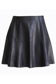 Spanx Faux-Leather Flouncy Skirt - Front full body