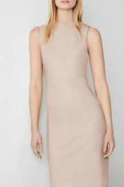 BCBG MAXAZRIA Faux Leather High Neck Midi Dress - Product Mini Image